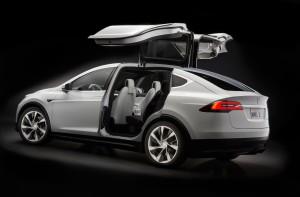 Teslas modell X. Bolagets SUV.